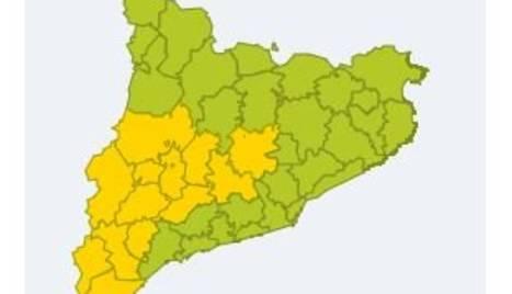 Imatge de la situació de calor a les comarques de Lleida