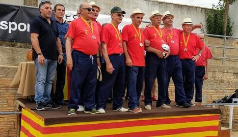 Celebrant el tercer lloc a la final catalana del 2018.
