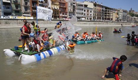La festa aquàtica del riu Segre