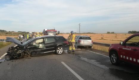 Imatge de l'accident a l'N.240