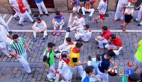 Una vista de l'asseguda dels mossos.