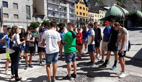 Els participants al camp de treball de la Ribagorça.