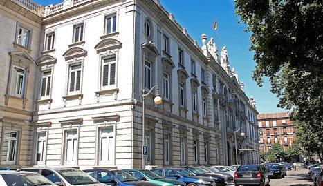 Imatge exterior de la seu del Tribunal Suprem a Madrid.