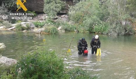Els bussejadors de la Guàrdia Civil van localitzar el cos sense vida del jove dissabte a la tarda.