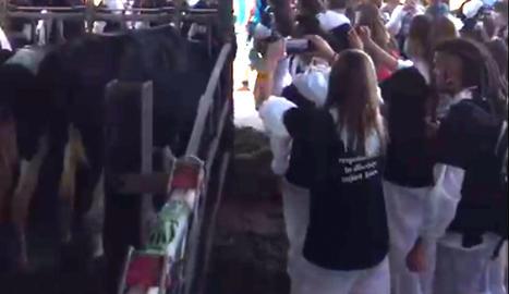 Captura del vídeo que denuncia UP