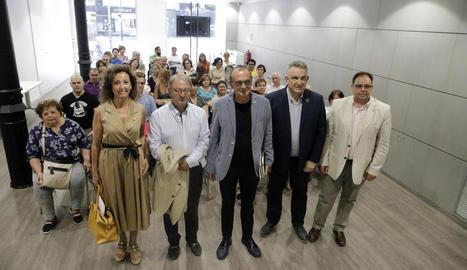 Gispert, Cerdà i Pueyo, amb el president de Pimec, Jaume Saltó, i el de Pimec Comerç, Manel Llaràs.