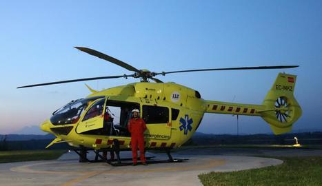 El SEM implanta els vols nocturns amb helicòpters medicalitzats de forma regular