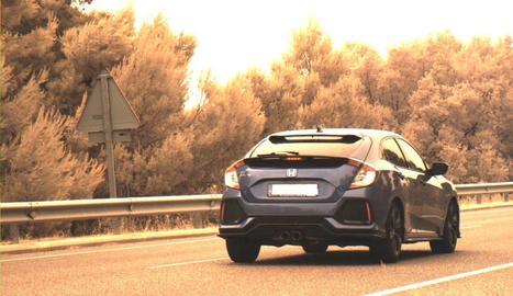 Enxampen un conductor que anava a 184 quilòmetres per hora per la C-14 a l'Urgell