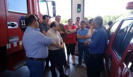 Iceta va visitar ahir la Ribera d'Ebre després del devastador incendi.