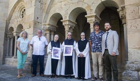 Presentació ahir al monestir de Vallbona de les Monges del cicle musical 'La Pedra Parla'.