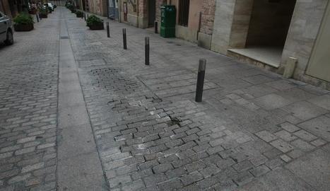 Imatge del carrer Democràcia de Lleida.