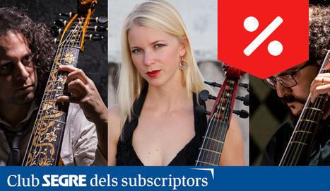 Rami Alqhai, Johanna Rose i Fahmi Alqhai, els tres components de la formació 'Accademia del Piacere'.