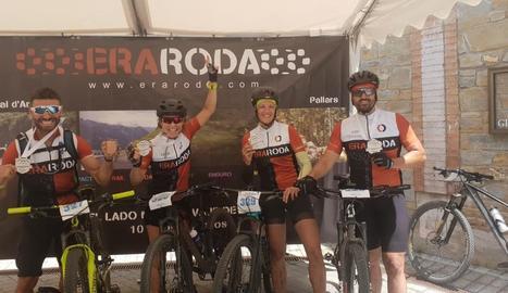 A la imatge, alguns dels ciclistes que van aconseguir pujar al podi en alguna de les proves.