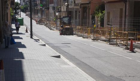 Estat actual de l'avinguda Jaume Mestres.
