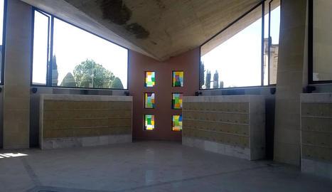 Els nous columbaris, situats a la sala ecumènica.
