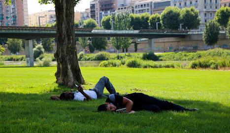 Els experts aconsellen no sortir al carrer durant les hores centrals del dia per evitar la calor.
