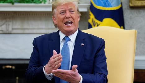 Donald Trump, ahir al despatx oval de la Casa Blanca.