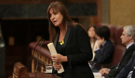 La portaveu de JxCat al Congrés, Laura Borràs, intervenint a la sessió d'investidura