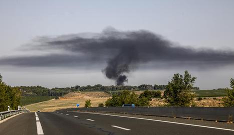 Imatge de la columna de fum
