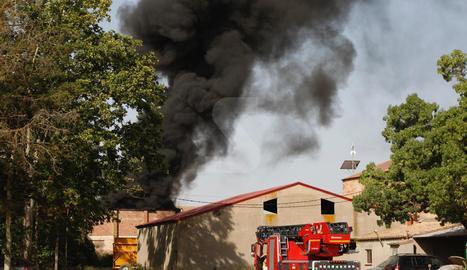 Imatge de l'incendi de Raïmat