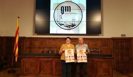 Presentació del Mercat Medieval de Guimerà ahir a l'IEI.