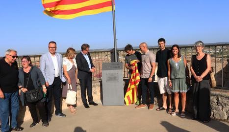 Imatge de la inauguració del Mirador 1-O d'Arbeca.