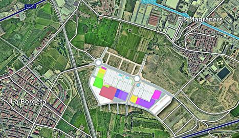 Imatge d'un pla del futur centre comercial que figura als fullets per a la venda.