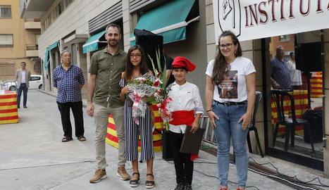Els més petits de Puigverd de Lleida s'ho van passar d'allò més bé ahir en un tobogan urbà.