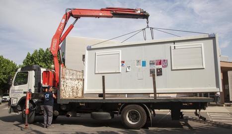 Retiren el mòdul prefabricat del CAP d'Agramunt després de tretze anys