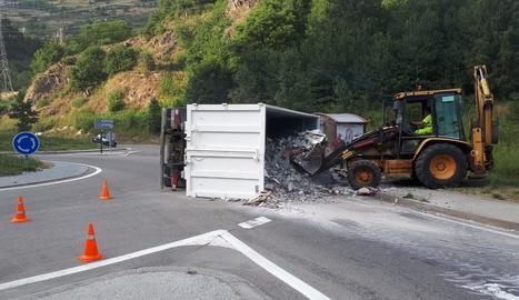 Accident de dimarts passat a l'N-230 a Vielha.