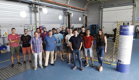 Els membres de la unitat Smart Management System que desenvoluparan el projecte a la seu d'Eurecat a Lleida.