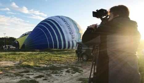 Un moment del rodatge de 'Globus sonda' a l'Empordà.