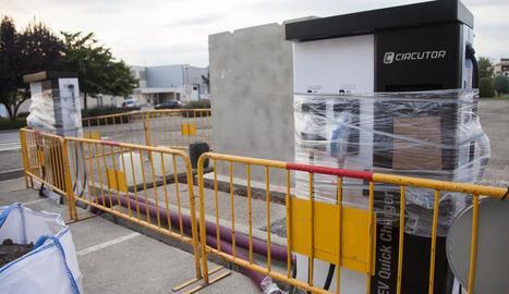 Les obres d'instal·lació van començar divendres passat.