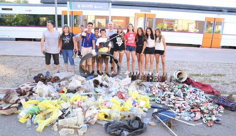 Imatge de la recollida d'escombraries d'ahir a Golmés.