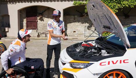 Isidre Esteve i Màrquez han filmat un vídeo on mostren les seues habilitats com a mecànics.
