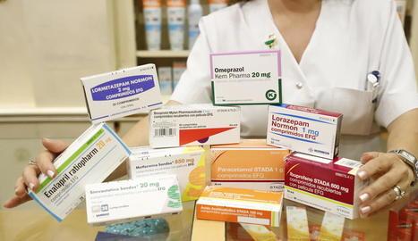 Imatge d'alguns dels medicaments més receptats aquest primer semestre.