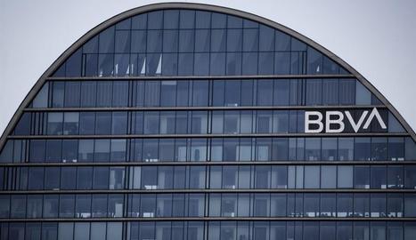 Imatge de la seu del BBVA a Madrid.