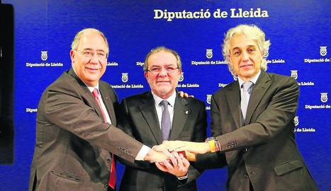 Aragonès i Torra, ahir, a la reunió del Consell Executiu.