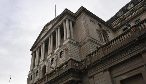 Imatge d'arxiu de la façana del Banc d'Anglaterra a Londres.