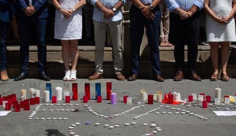Imatge d'una concentració contra la violència masclista.