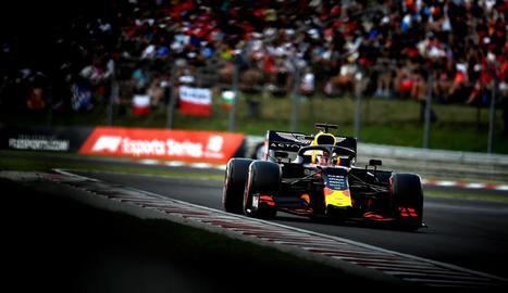 Max Verstappen durant la sessió de classificació del Gran Premi d'Hongria.