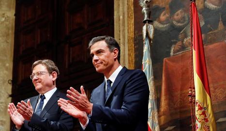 Ximo Puig i Pedro Sánchez, en una imatge d'arxiu.