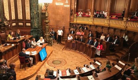 Imatge general de la sessió extraordinària del Ple del Consell Municipal de Barcelona.