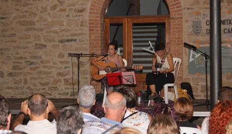 El cicle va incloure un concert d'Andrea Quirós i Maria Arqués.