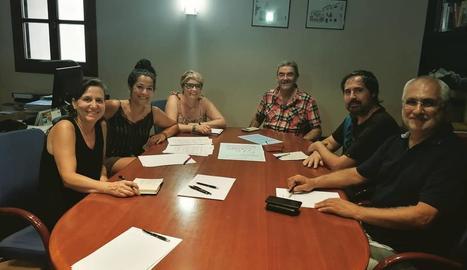 Trobada dels regidors amb membres de Mascançà.