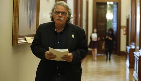 L'exportaveu d'ERC al Congrés Joan Tardà, als passadissos de la Cambra Baixa.