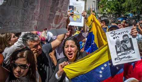 Imatge d'arxiu de protestes contra Maduro a Miami.