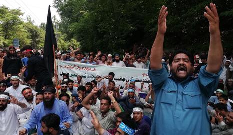 Les protestes es van repetir ahir en diverses ciutats de l'Índia.