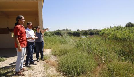Un moment de la visita als Aiguamolls de Rufea.