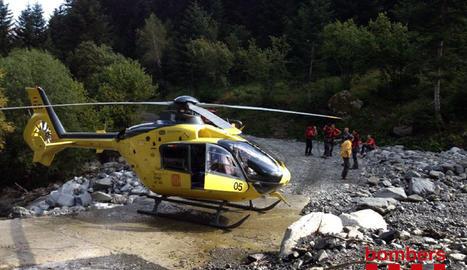 Imatge d'arxiu d'un helicòpter dels Bombers de la Generalitat